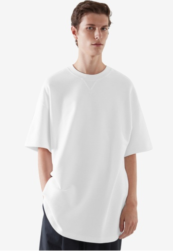 COS white Oversized-Fit Sweat T-Shirt C3B00AAB00CF16GS_1