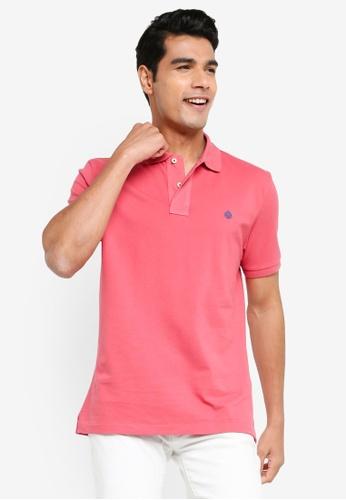 Springfield pink Essential Pique Polo Shirt 5C497AAF1E66B0GS_1