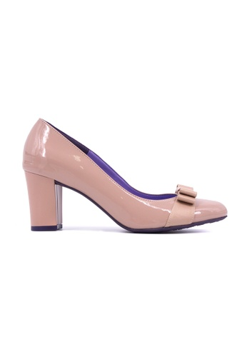 Flatss & Heelss by Rad Russel beige Round Toe Block Heels- Beige FL655SH0GHBVSG_1