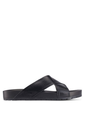 Bata black Bata Casual Sandals 2A659SHE223D76GS_1