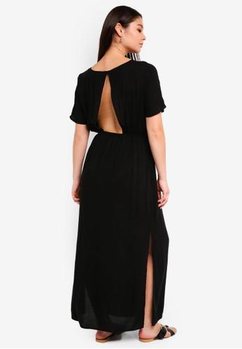 ICHI black Facova Dress B0038AAF80252EGS_1