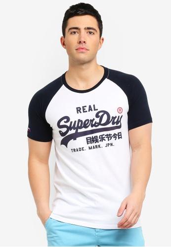 a4cd419dc63aa Shop Superdry Vintage Logo 1St Raglan Tee Online on ZALORA Philippines