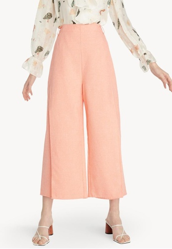 Pomelo orange Layered Wide Leg Pants - Orange 62048AA7B10639GS_1