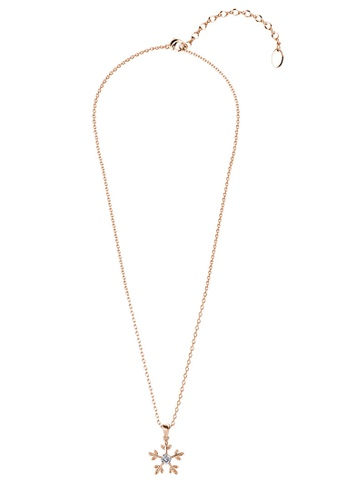 Her Jewellery gold Twinkle Flakes Pendant (Rose Gold) -  Embellished with Crystals from Swarovski® DA370AC78532C8GS_1