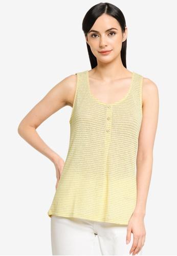 ONLY yellow Riz Sleeveless Glitter Top 81B40AAFC4F013GS_1