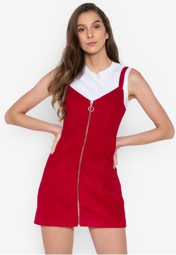 a88b256ebd Shop TOPSHOP Petite Corduroy Zip Through Dress Online on ZALORA ...