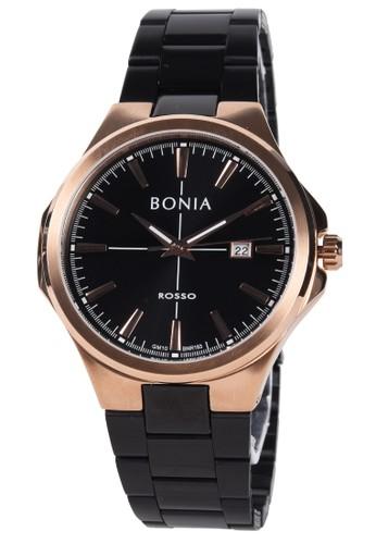 BONIA black Bonia - Jam Tangan Pria - Rosegold - Black Stainless Steel Bracelet - BNR183-1532 16D18AC128892AGS_1