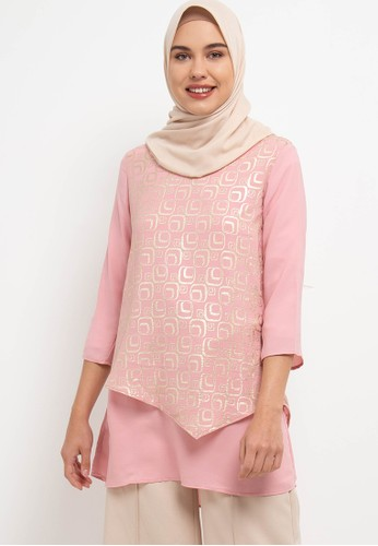 AZZAR pink Nawa Blouse C3A2AAAE742188GS_1
