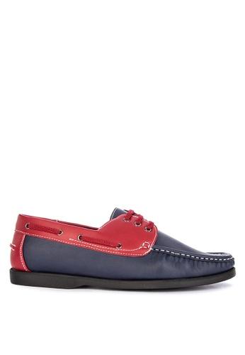 Italianos blue and multi Rowan Boat Shoes 942C5SH5F26502GS_1