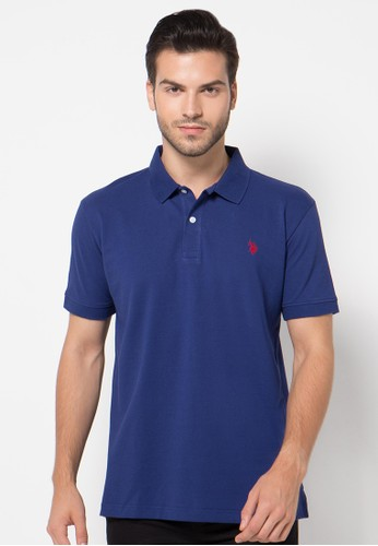 Classic Polo Shirt With Small Double Horsemen Logo