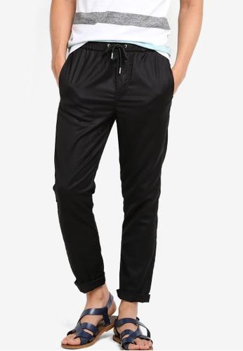 !Solid black Holmes Slim Jersey Pants SO701AA46KDTMY_1
