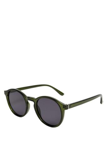 Mango Man green Rounded Sunglasses 55833GL51FAFC5GS_1
