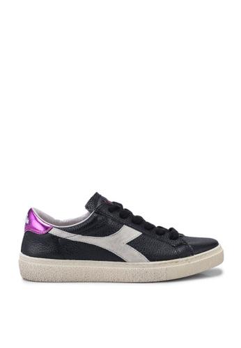 Diadora black Montecarlo H Pieno Fiore Wax Sneakers 85ECCSH804AC19GS_1