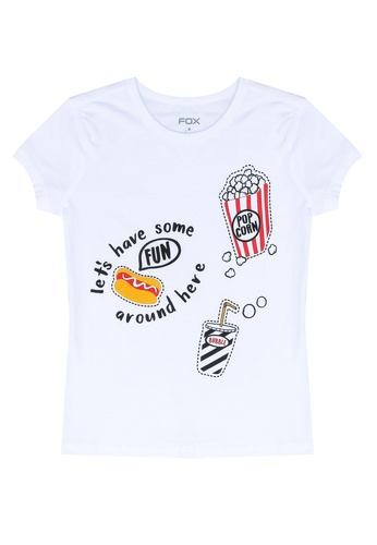 FOX Kids & Baby white Graphic Tee 86D10KAB0D0B2FGS_1