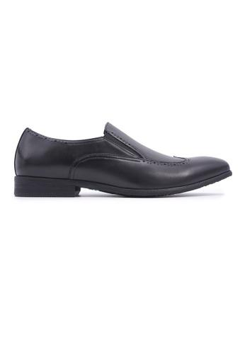 Hanson Bootmaker black Hanson Bootmaker Slip-on with Wingtips- Black 4E837SHB264EF3GS_1