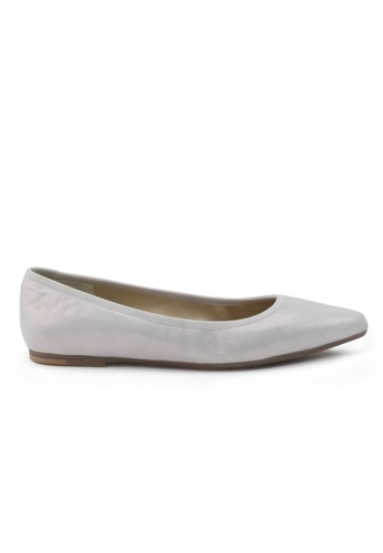 Shu Talk purple and silver Suede Pointed Toe Flat Shoes SH617SH2VREGHK_1