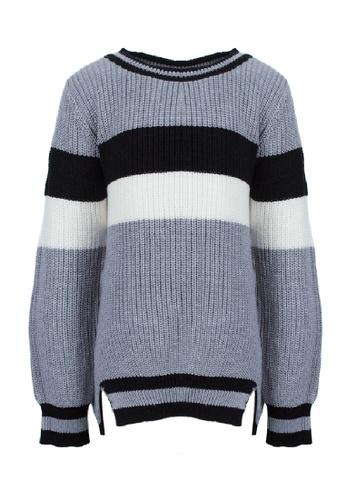 Adkidz grey Adkidz Round Neck Sweater F3BA0KA68C6CB1GS_1