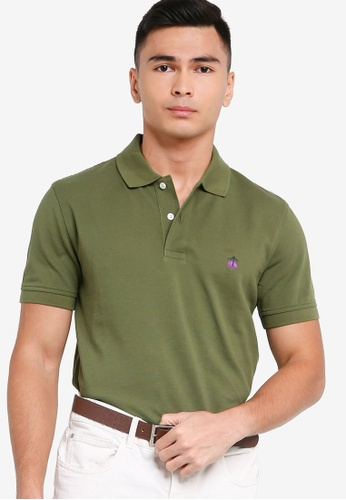 Brooks Brothers green Mens Knit Polo Shirt 564ADAAF40C485GS_1