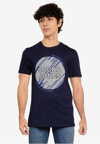 Jack & Jones navy Kopa Short Sleeves Tee E2F43AAA97F552GS_1