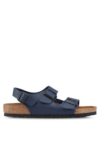 6e339ae8116c Birkenstock blue Milano Birko-Flor Sandals 565E0SHAB696E5GS 1