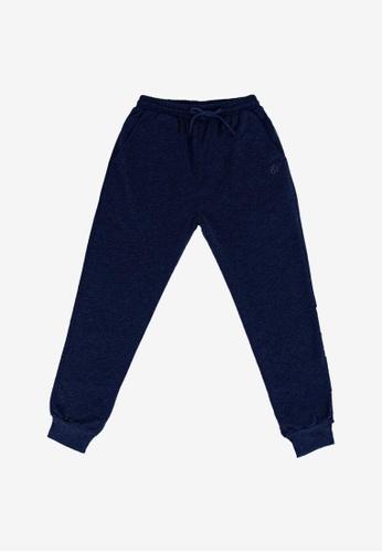 FOREST blue Forest Cotton Terry Sweatpants Jogger Long Pants - 10727-Navy D0CCFAA7B957C4GS_1