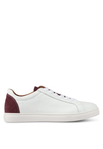 Selected Homme white Shndavid Contrast Sneakers B8CC9SH37FC35DGS_1
