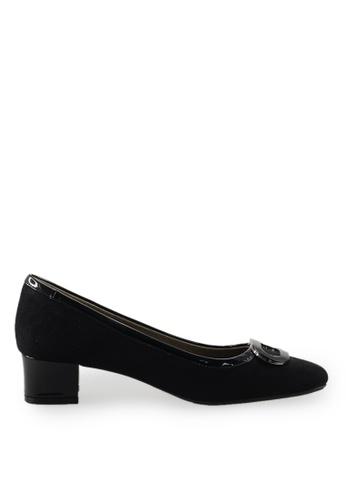 Footspot black FOOTSPOT - Square Toe Block Heel Shoes With Buckle A10C9SH4606A76GS_1