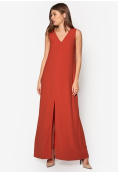 Collection Minimalist Maxi Dress With Slit
