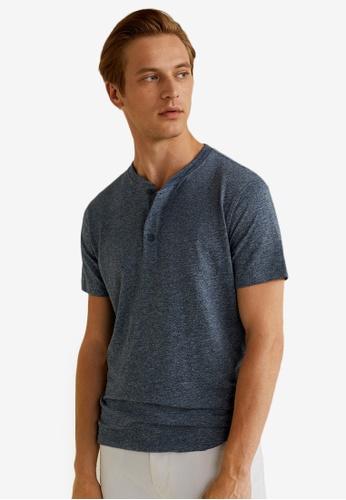 b4c5581b8dd06 Buy MANGO Man Flecked Henley T-Shirt Online on ZALORA Singapore