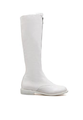 Twenty Eight Shoes white Zipper Riding Boots 9100-3 79B86SHA3FF50FGS_1