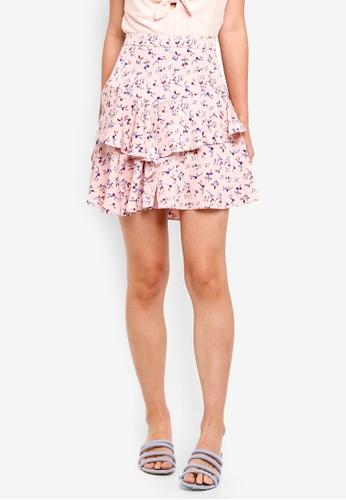 NAIN pink Frill Floral Skirt 95C0BAAE95EC01GS_1