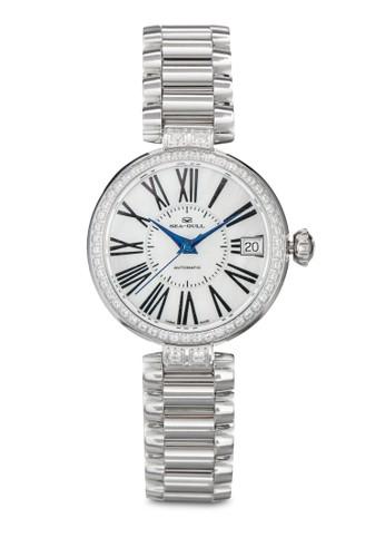 716.755L ST2130 32mm 閃鑽機械鏈帶女錶,esprit女裝 錶類, 飾品配件