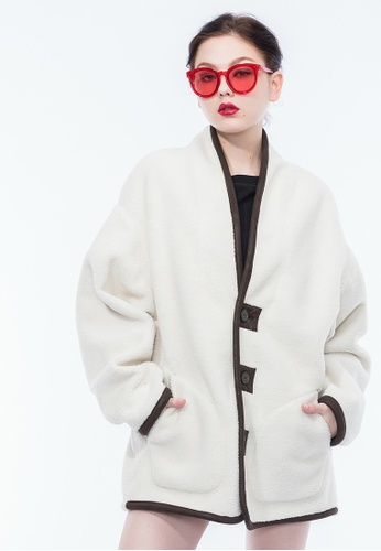 Alpha Style white Charly Reversible Faux Shearling Coat AL461AA0GYGJSG_1