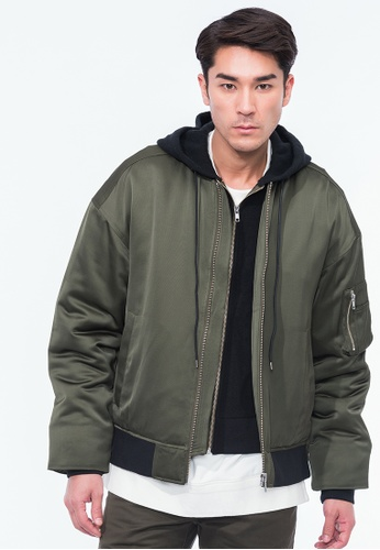 Alpha Style green Justin Combined Jacket AL461AA0H8Z5SG_1