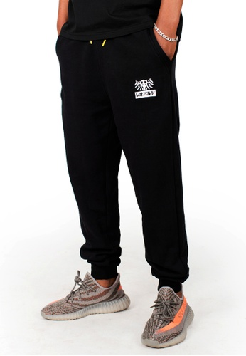 Reoparudo black RPD Year Text Camo Print Jogger Pants (Limited Edition) 49D75AABB221F8GS_1