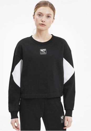 puma black Rebel Women's Sweater 41E1CAA00C6FE0GS_1