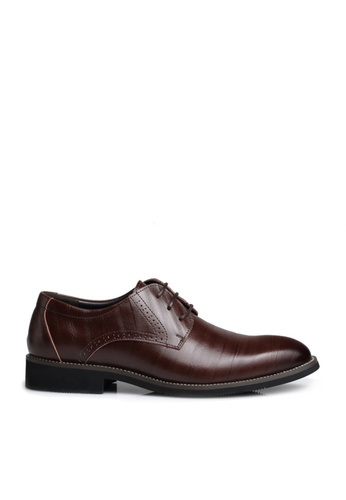 Twenty Eight Shoes brown Microfiber PU Leathers Brouge Oxford Shoes VM2538 86426SH114706AGS_1