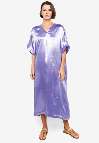 H&M purple V-Neck Kaftan AA5C6AAE11075CGS_1