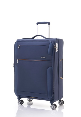 Samsonite blue Samsonite Crosslite Spinner 66/24 EXP SA186AC42FFLSG_1