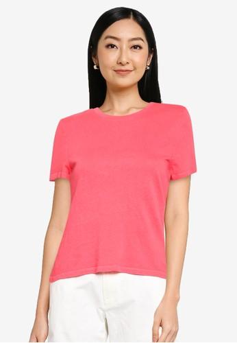 GAP pink Shrunken Tee 008F3AA54024E2GS_1