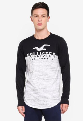 Hollister 白色 撞色LOGO印花T恤 C1B10AA9CBD64CGS_1