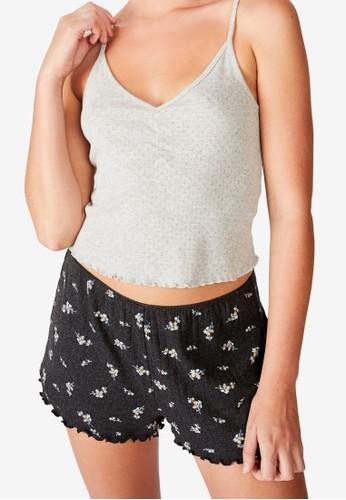 Cotton On Body black Pointelle Boxer Shorts 726ECAA5A3C614GS_1