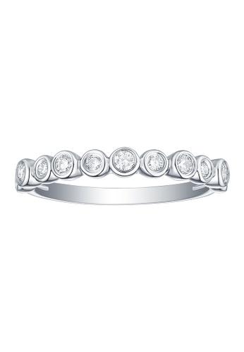 Smiling Rocks 白色 10K白金0.29克拉實驗室培植鑽石泡泡系列戒指 F3E6DACA9C60B5GS_1