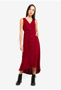 0fa0a08f395 30% OFF Something Borrowed Button Down Sleeveless Midi Dress RM 105.00 NOW  RM 73.90 Sizes XS S M L XL