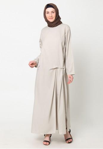 eugeneffectes grey Bowtie Dress Grey EA932AAFC7A2A8GS_1