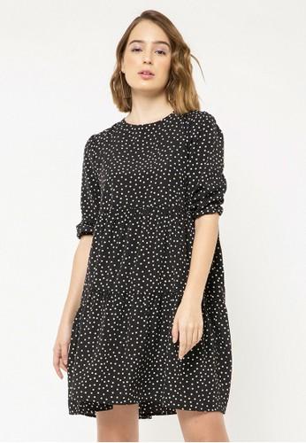 COLORBOX black Polkadot Mini Dress 65DD3AA5EFAE11GS_1