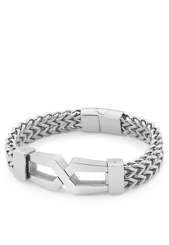 HAPPY FRIDAYS Stylish Double Layer Titanium Steel Bracelet KL149650 C1070AC2828360GS_1