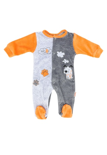 Babybol orange Baby Long Sleeve Romper 9953FKAA861858GS_1