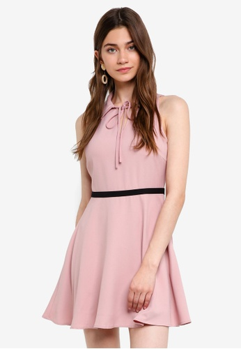 Something Borrowed pink Relaxed Mini Collared Dress 402DCAA59CE48FGS_1