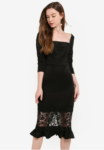 CHI CHI LONDON black Furla Dress CB60DAAD09A241GS_1